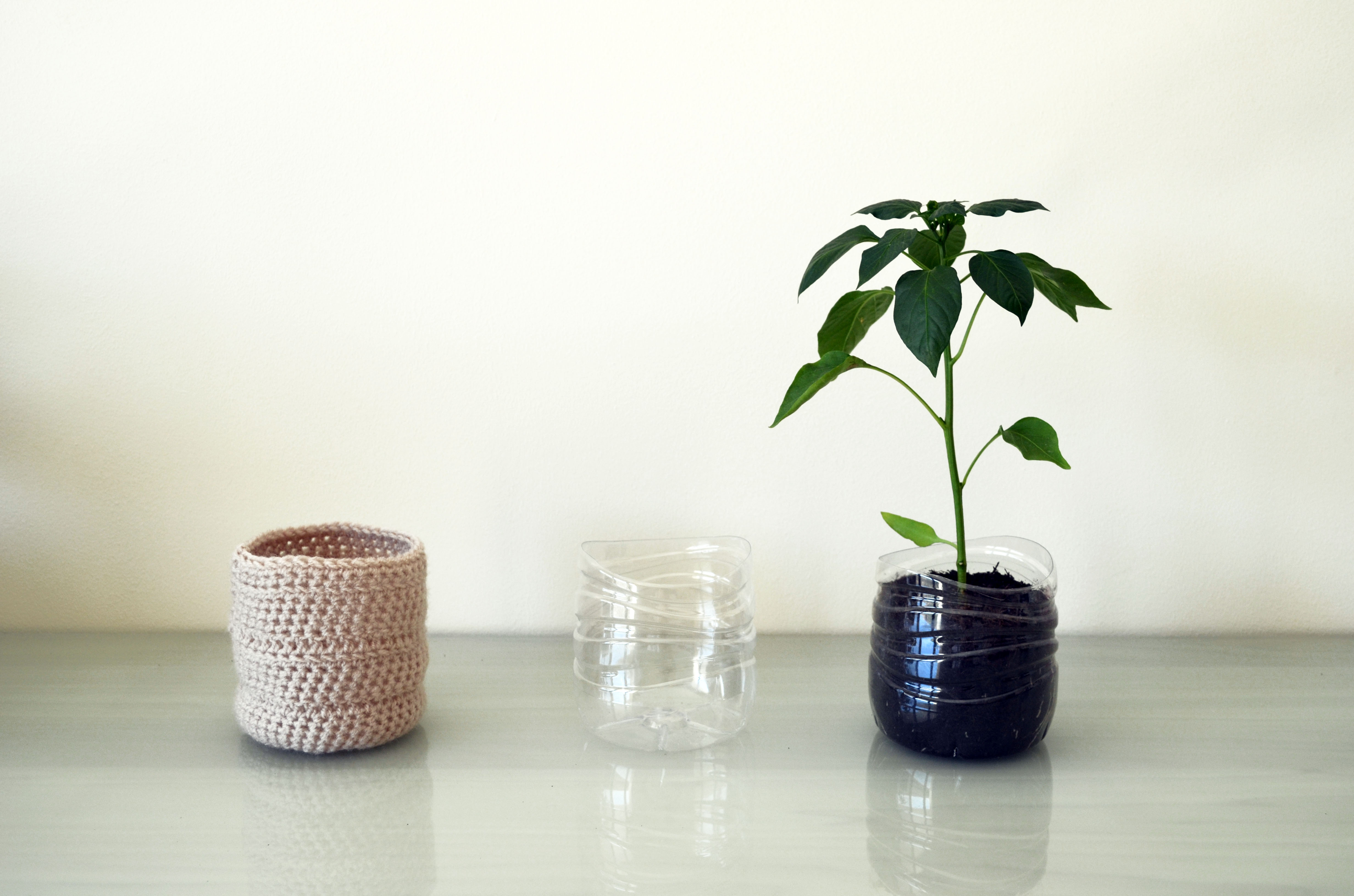 pastel upcycled modern planters