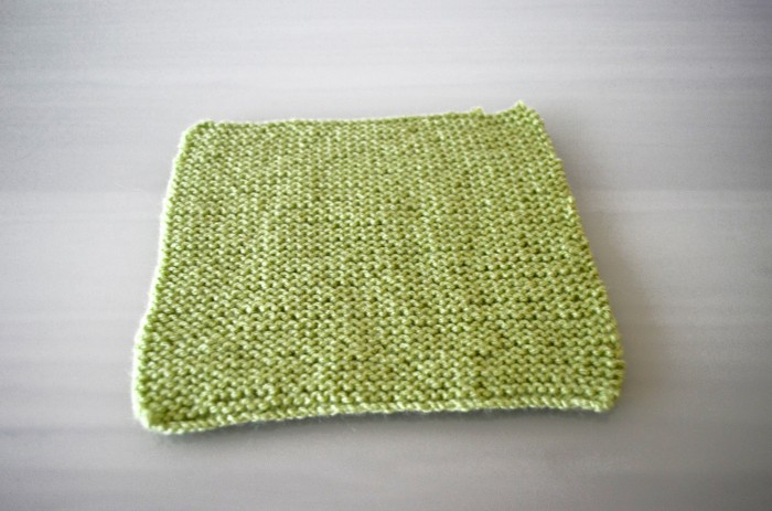 Green Knitted Square