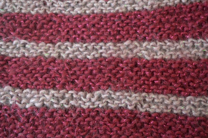 garter stitch with two colours