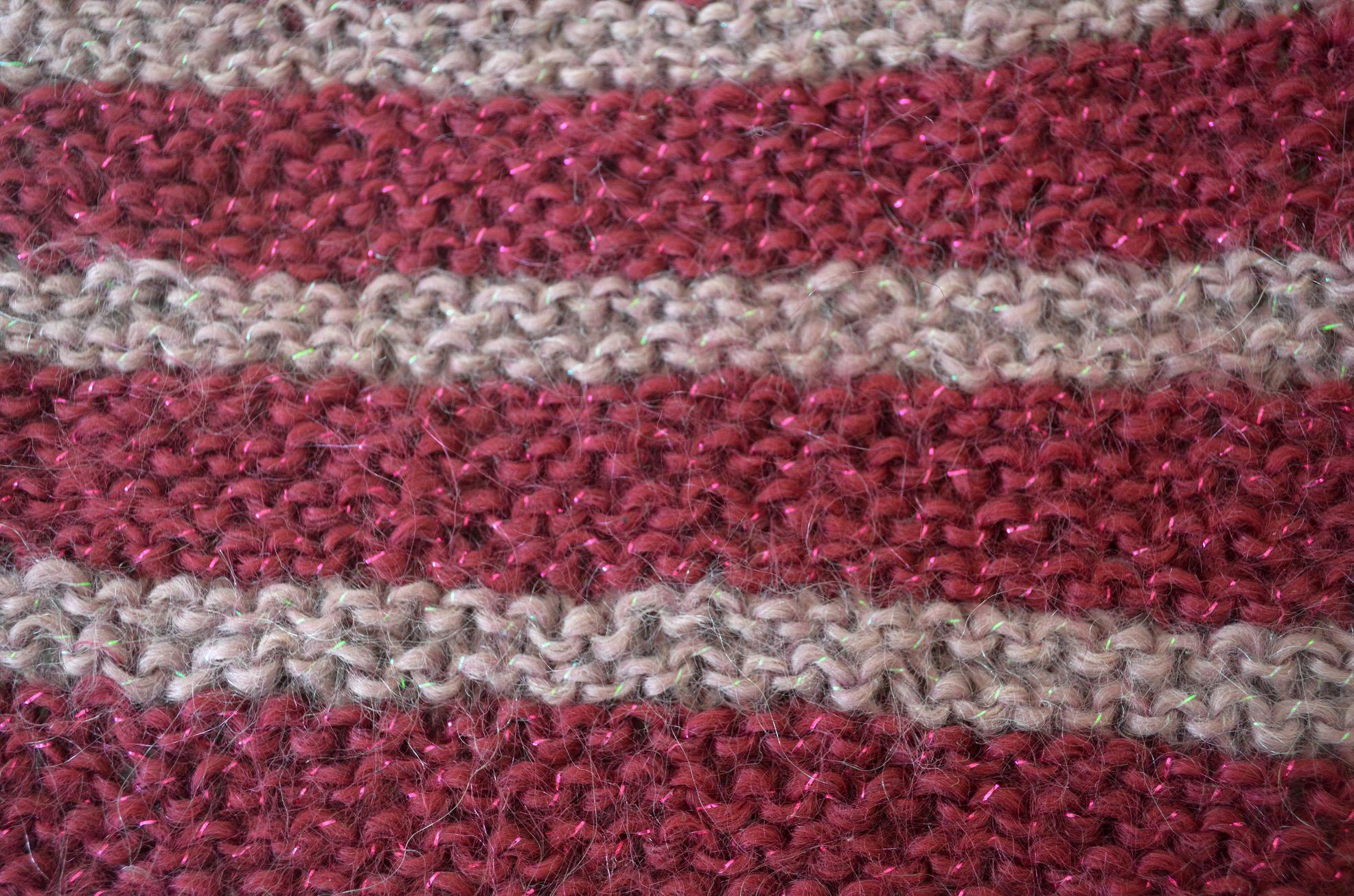 Striped Garter Stitch Squares - Cottontail Design