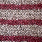 garter stitch with two colors