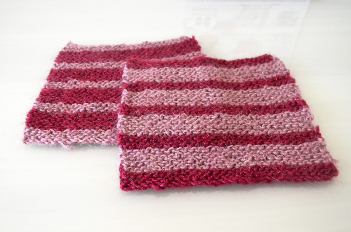 Striped Knitted Squares