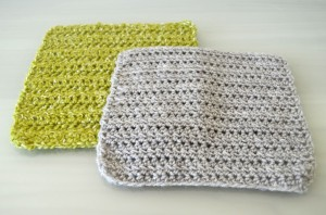Green and Grey Crochet Square