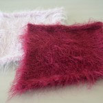 Maroon and Pink Knitted Squares