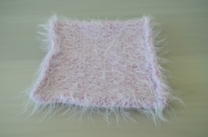 Pink Knitted Square