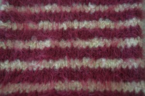 Stocking stitch with two colours