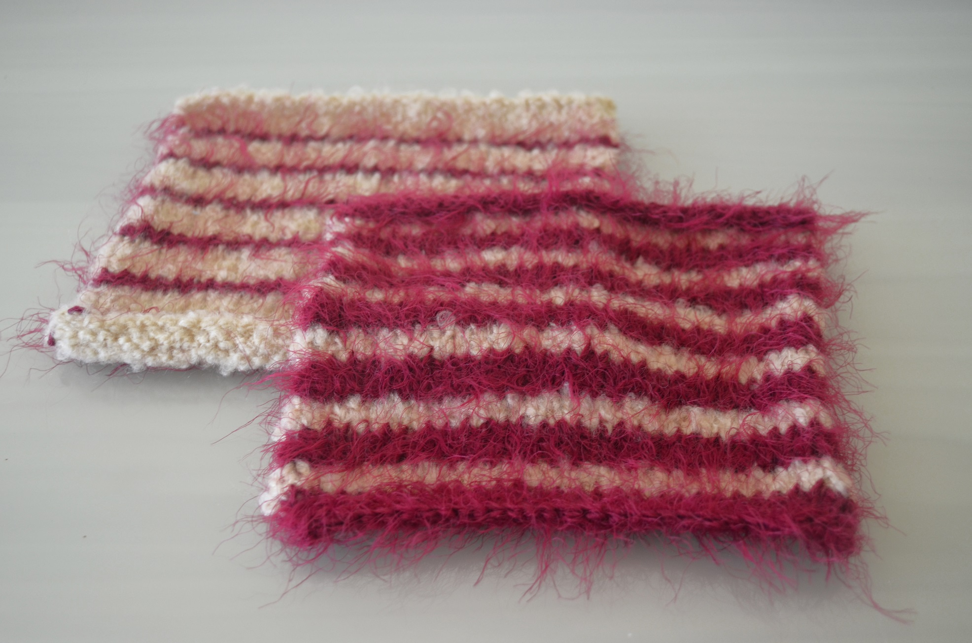 Striped Stocking Stitch Squares - Cottontail Design
