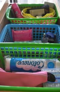 Organised cosmetics drawer