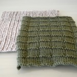 Grey and Green Knitted Squares