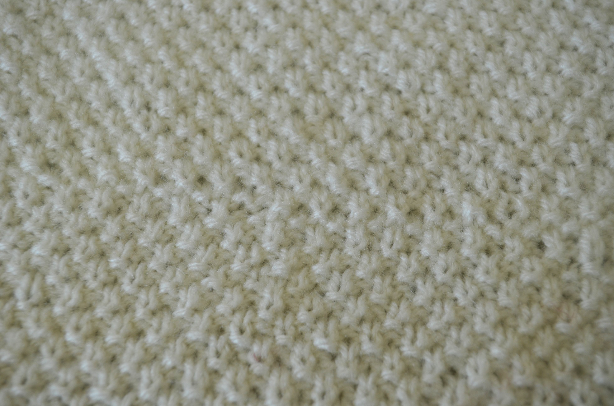 Treble In The Back Loop and Double Moss Stitch - Cottontail Design