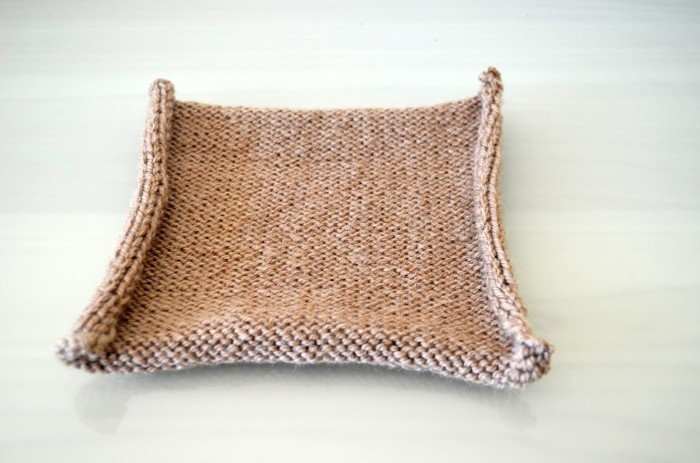 Brown Knitted Square