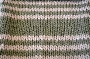 Striped Stocking Stitch