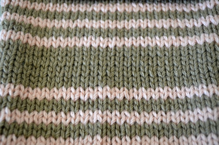 Striped Stocking Stitch