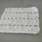White Crocheted Square