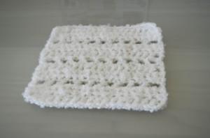 White Crocheted Square