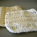 White Knitted and Crocheted Square