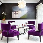 Purple Chairs in Dining Room
