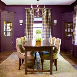 Wood Violet in Dining Room