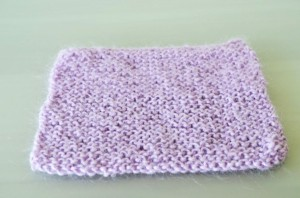 Violet Knitted Square