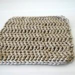 Brown Crochet Square