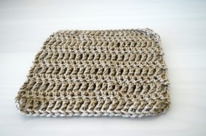 Brown Crochet Square