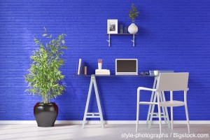 Electric Blue Wall