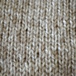 Grey Knitted Square