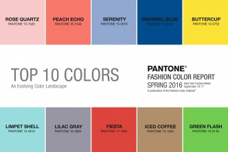 Spring 2016 Pantone Colors