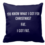 Funny christmas quote pillow