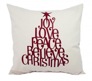 Christmas quote pillow