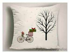 Christmas themed pillow