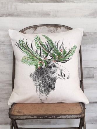 Holiday Moose Pillow