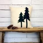 Pine tree pillow