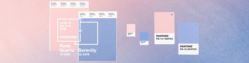 Rose Quartz and Serenity Pantone