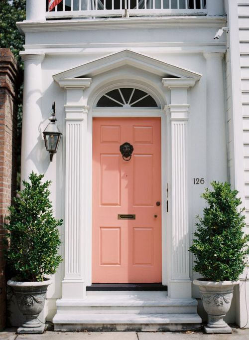 Peach Coloured Door