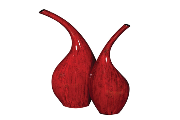 Aurora Red Vases